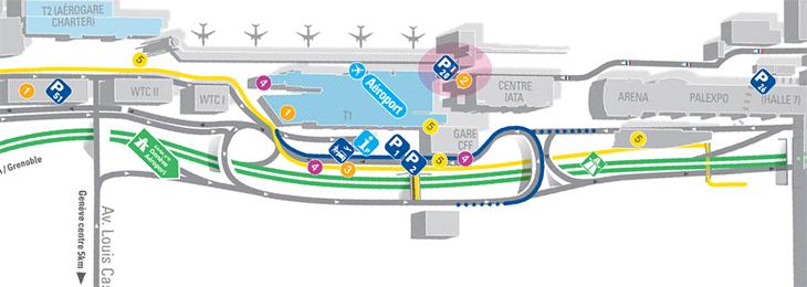 Geneva-Airport-Arrivals-GVA-parking-area