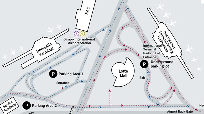 Gimpo-Airport-Arrivals-&-Departures-SEL-parking-area