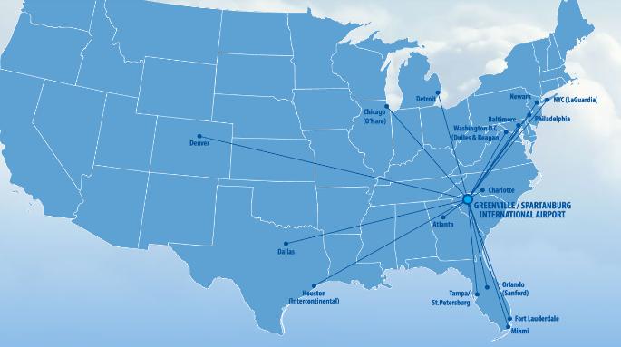 Greenville-Spartanburg-Airport-departures-GSP-direct-flights