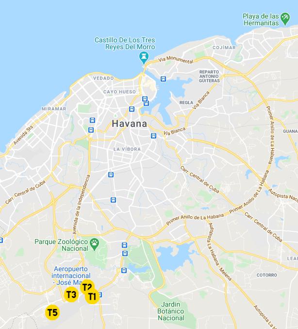 Havana-Airport-Arrivals-HAV-location-map