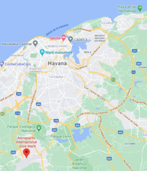 Havana-Airport-departures-HAV-location-map