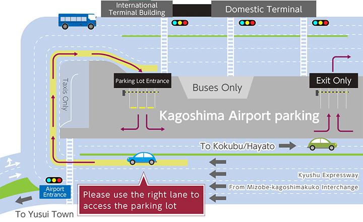 KOJ-Arrivals-Kagoshima-Airport driving map