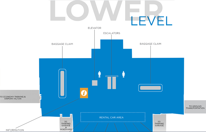 Knoxville-McGhee-Tyson-Airport-Arrivals-TYS-terminal-map-lower-level