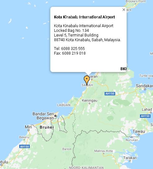 Kota-Kinabalu-Airport-Arrivals-BKI-location-map