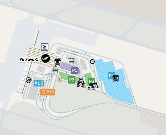 LED-Arrivals-Saint-Petersburg-Airport-parking-map