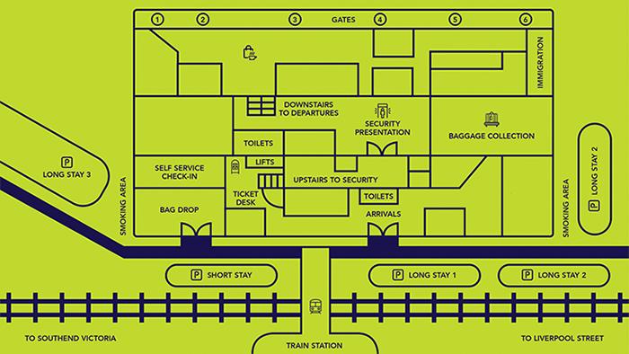 London-Southend-Airport-Arrivals-SEN-terminal-map