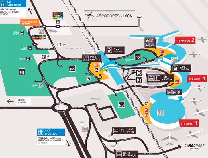 Lyon-Airport-Departures-LYS-park-lots