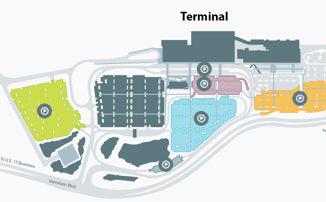MYR-Arrivals-Myrtle-Beach-Airport-parking-area