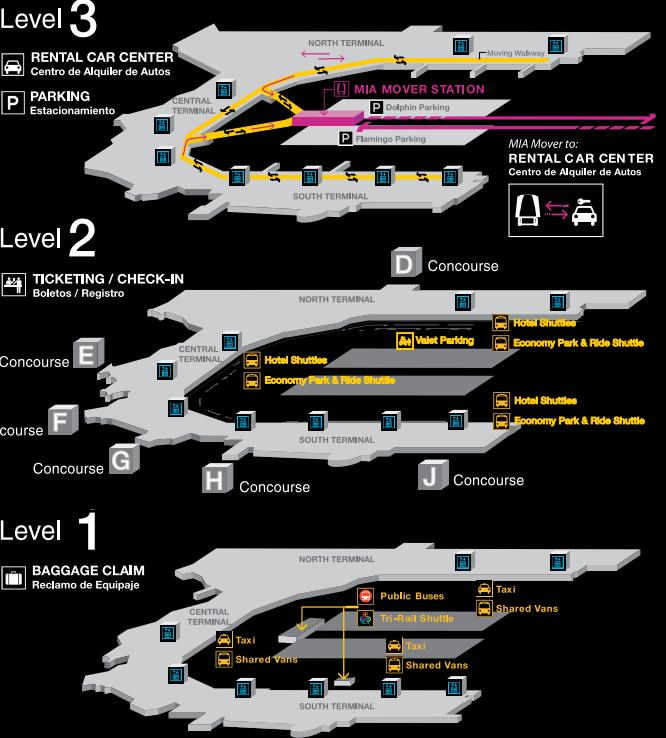 Miami-Airport-departures-MIA-terminal-map