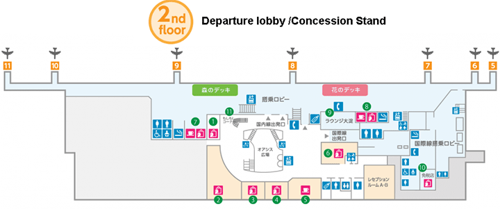 Miyazaki-Airport-Departures-KMI-map-departure-lobby