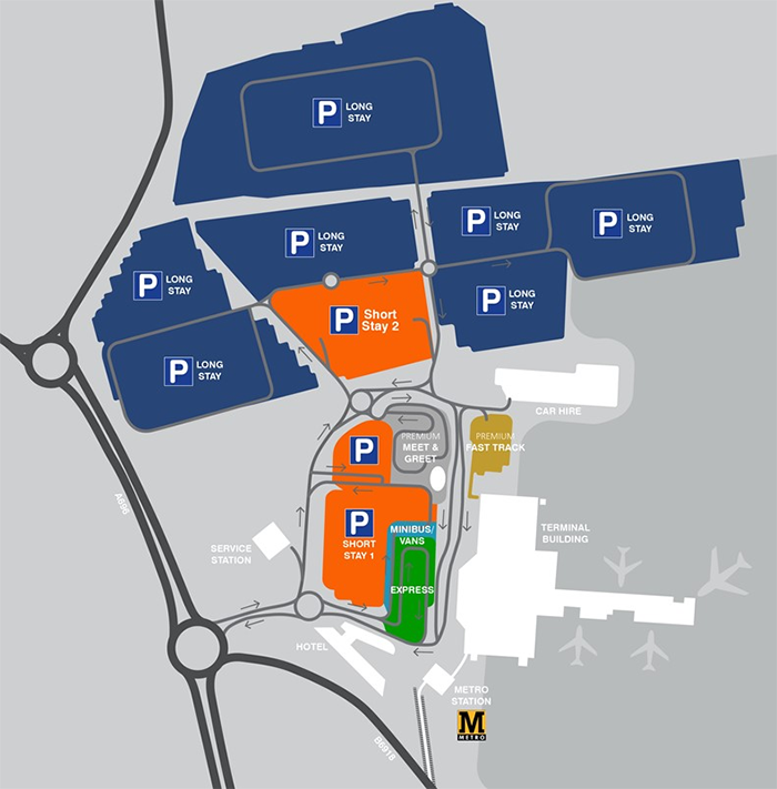 NCL-Arrivals-Newcastle-Airport-parking-map