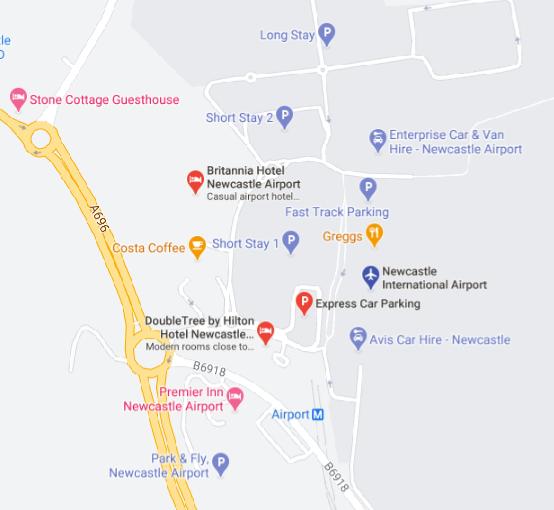 NCL-Departures-Newcastle-Airport-parking-area