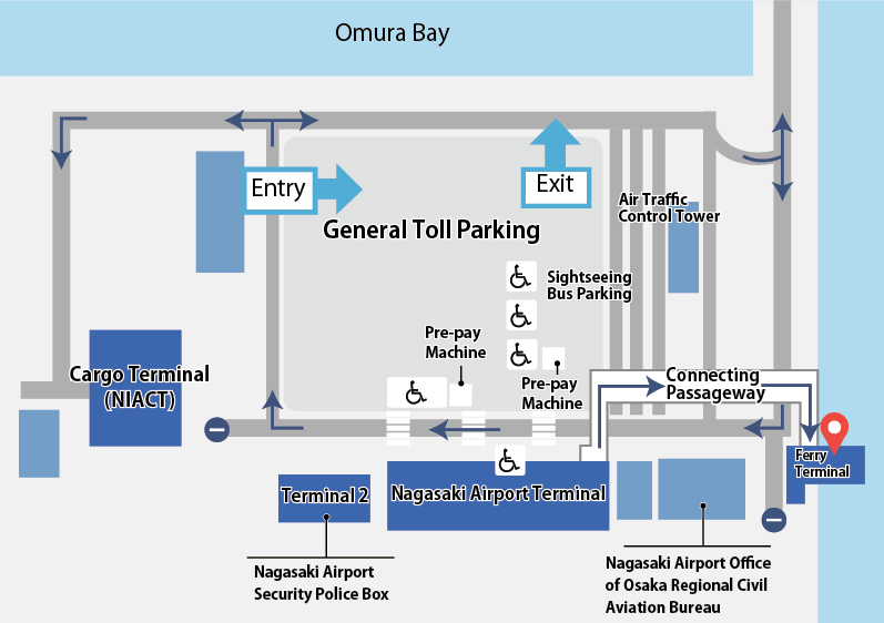 NGS-Arrivals-Nagasaki-Airport-map-area