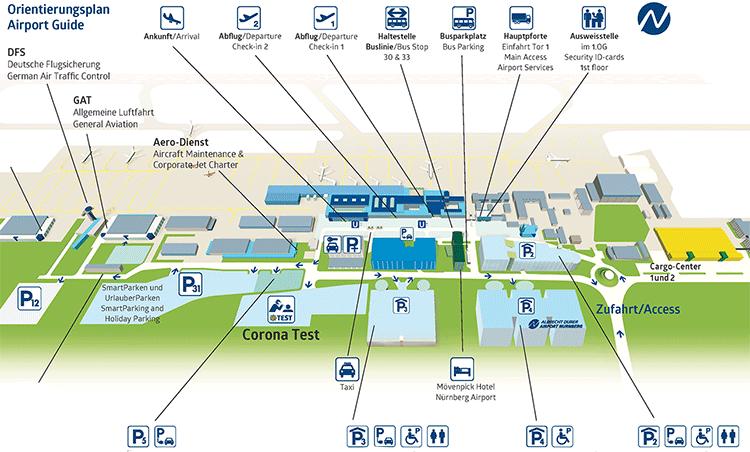 NUE-Arrivals-Nuremberg-Airport-parking-map
