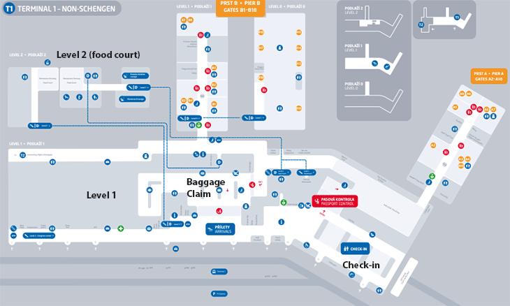 PRG-Arrivals-Prague-Airport-map-terminal-1