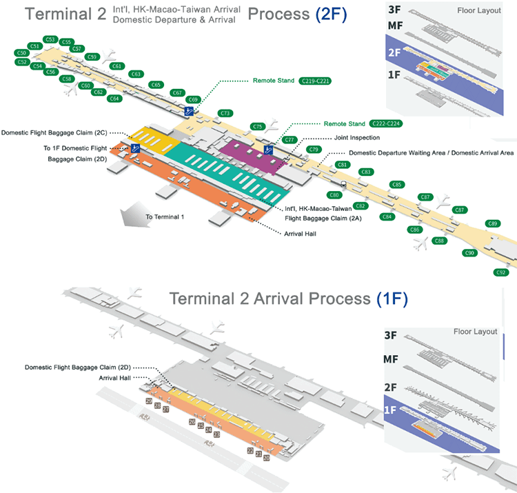 PVG-Arrivals-Shanghai-Pudong-Airport-terminal-2-map