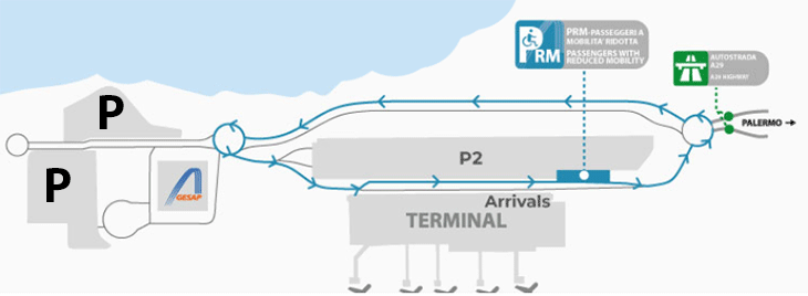 Palermo-Airport-Arrivals-PMO-parking-map