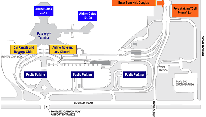 Palm-Springs-Airport-Departures-PSP-parking-map