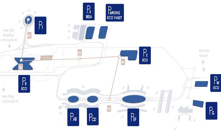 Paris-CDG-Departures-Charles-de-Gaulle-parking-map