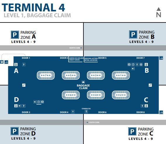 Phoenix-airport-arrivals-terminal-4-level-1-baggage-reclaim