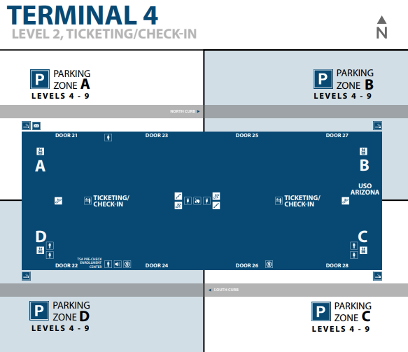 Phoenix-airport-departures-terminal-4-level-2-check-in-ticketing