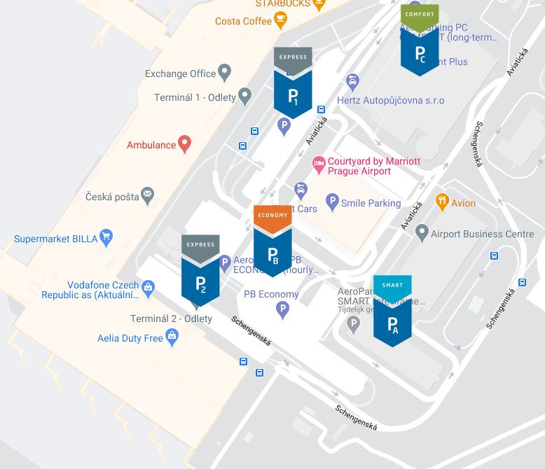 Prague-Airport-Arrivals-PRG-parking-map