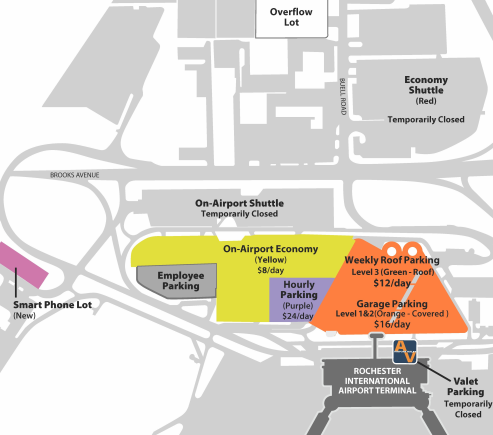 ROC-Arrivals-Rochester-Airport-map-parking-area