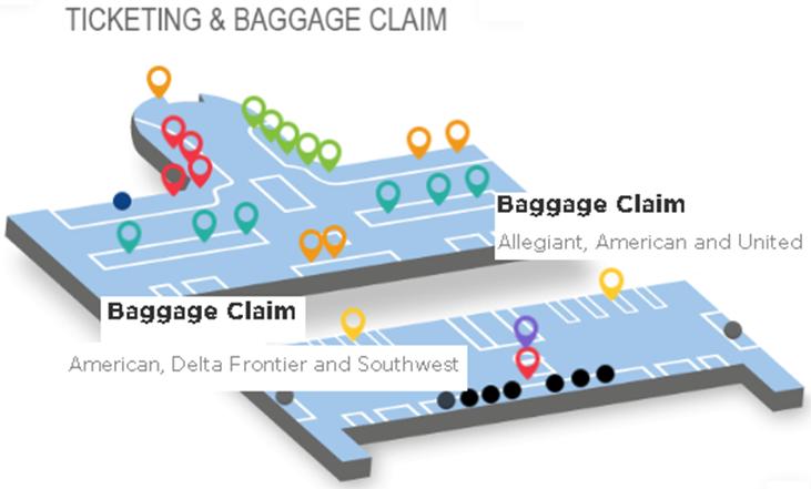 SDF-departures-Louisville-Airport-baggage-claim-airlines