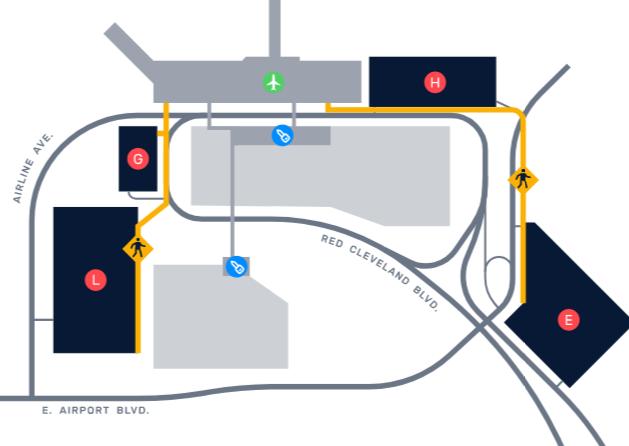 SFB-Arrivals-Sanford-Airport-Orlando-parking-map
