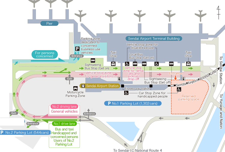 Sendai-Airport-Departures-SDJ-parking-map