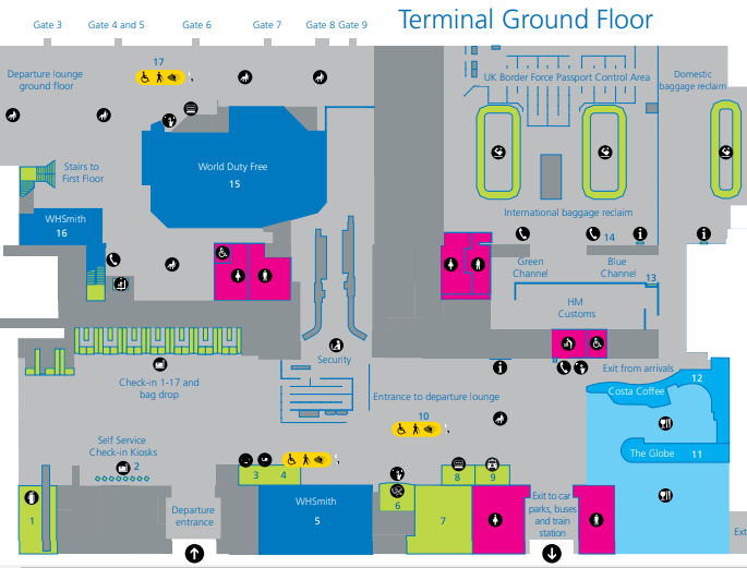 Southampton-Airport-Arrivals-SOU-ground-floor-ticketing-and-baggage-claim