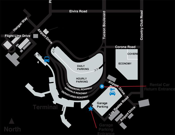 TUS-arrivals-tucson-airport-parking-areas