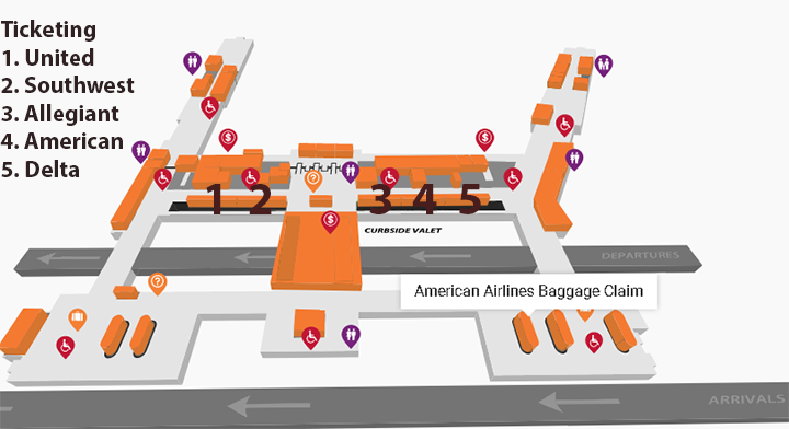 Tulsa-Airport-Departures-TUL-terminal-level-ticketing