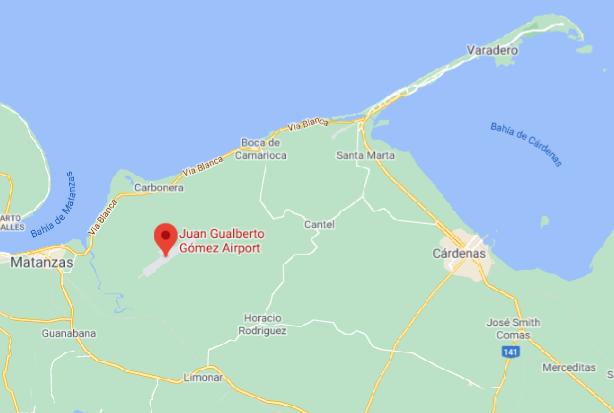 Varadero-Airport-Arrivals-VRA-map-Juan-Gualberto-Gómez-Airport