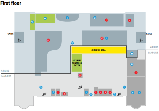 Venice-Treviso-Airport-Departures-TSF-terminal-map-first-floor