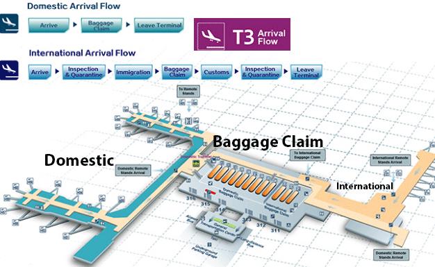 Xi'an-Xianyang-Airport-Arrivals-XIY-terminal-map