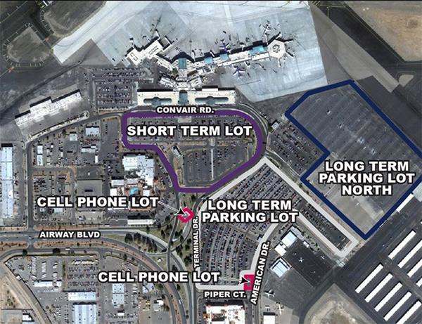 el-paso-airport-arrivals-ELP-parking-lots