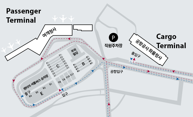 jeju-airport-arrivals-CJU-parking-map