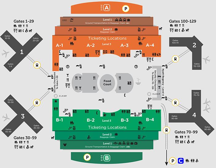 orlando-airport-arrivals-MCO-main-terminal-floor-map