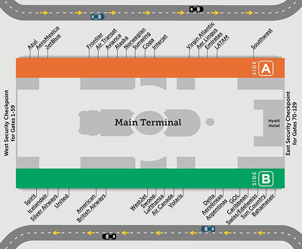 orlando-airport-departures-MCO-main-terminal-airlines-map