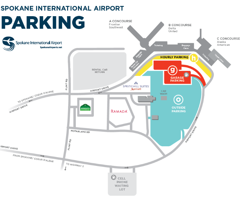 spokane-airport-departures-geg-parking-areas