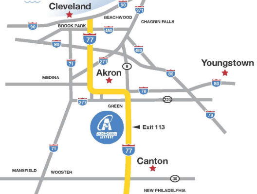 CAK-arrivals-driving-map