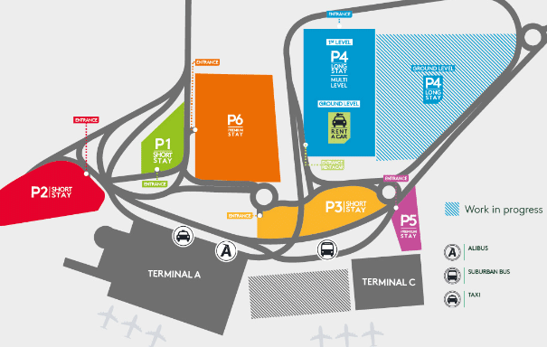 Catania-airport-arrivals-Fontanarossa-parking-map