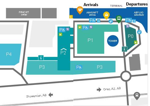 GRZ-Arrivals-Graz-Airport-Parking-Map