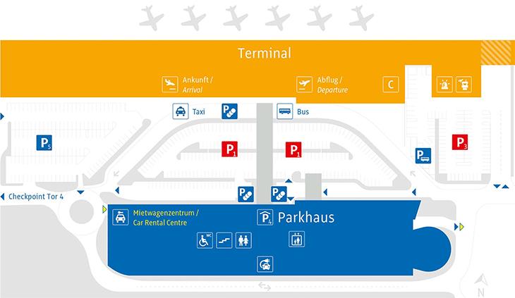 Innsbruck-Airport-Arrivals-INN-parking-map