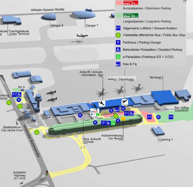 Salzburg-Airport-Arrivals-SZG-parking-map
