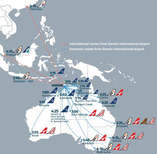 Darwin-Arrivals-DRW-flight-routes