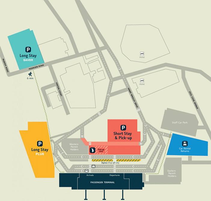 Darwin-Departures-DRW-parking-map