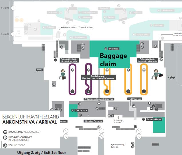 Bergen-Airport-Arrivals-BGO-Flesland-Airport-baggage-claim-terminal