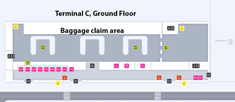 KTW-Arrivals-Katowice-Airport-map-Terminal-C-baggage-claim